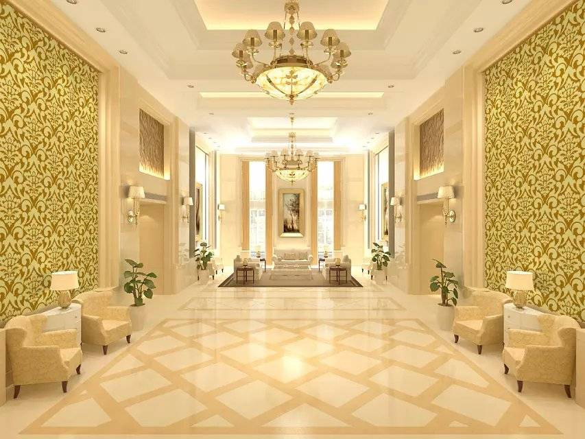 Most Popular Gold Foil PVC Wallpaper for Building Interior Decoration