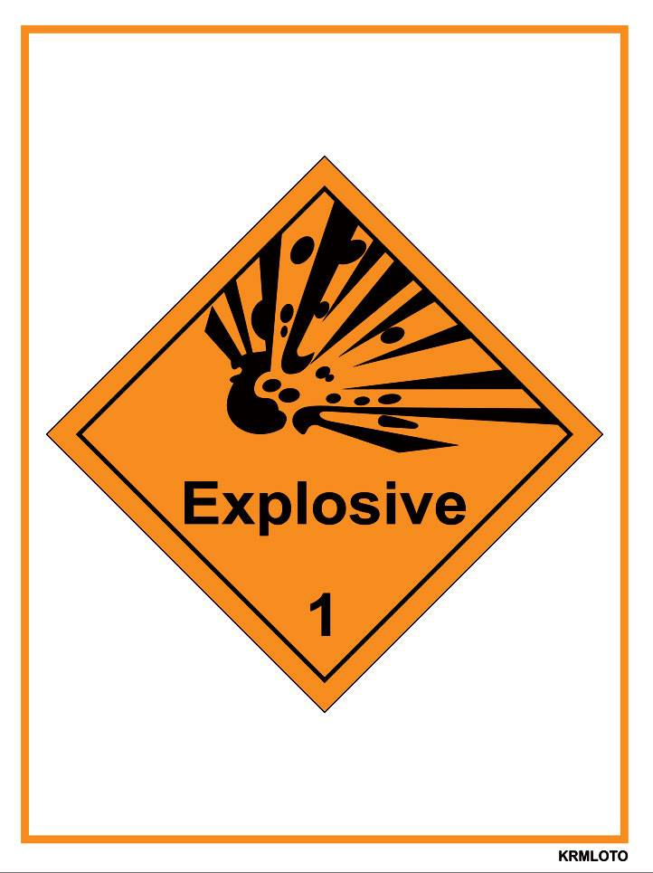 Self Adhesive Labels - Explosive (Set of 10 pcs)
