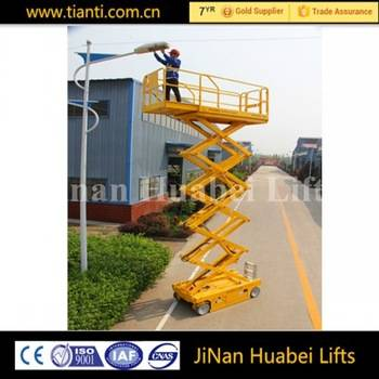 CE ISO9001 automatic towable scissor manlifts for sale