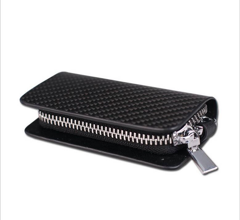 carbon fiber wallet geniune leather key wallet