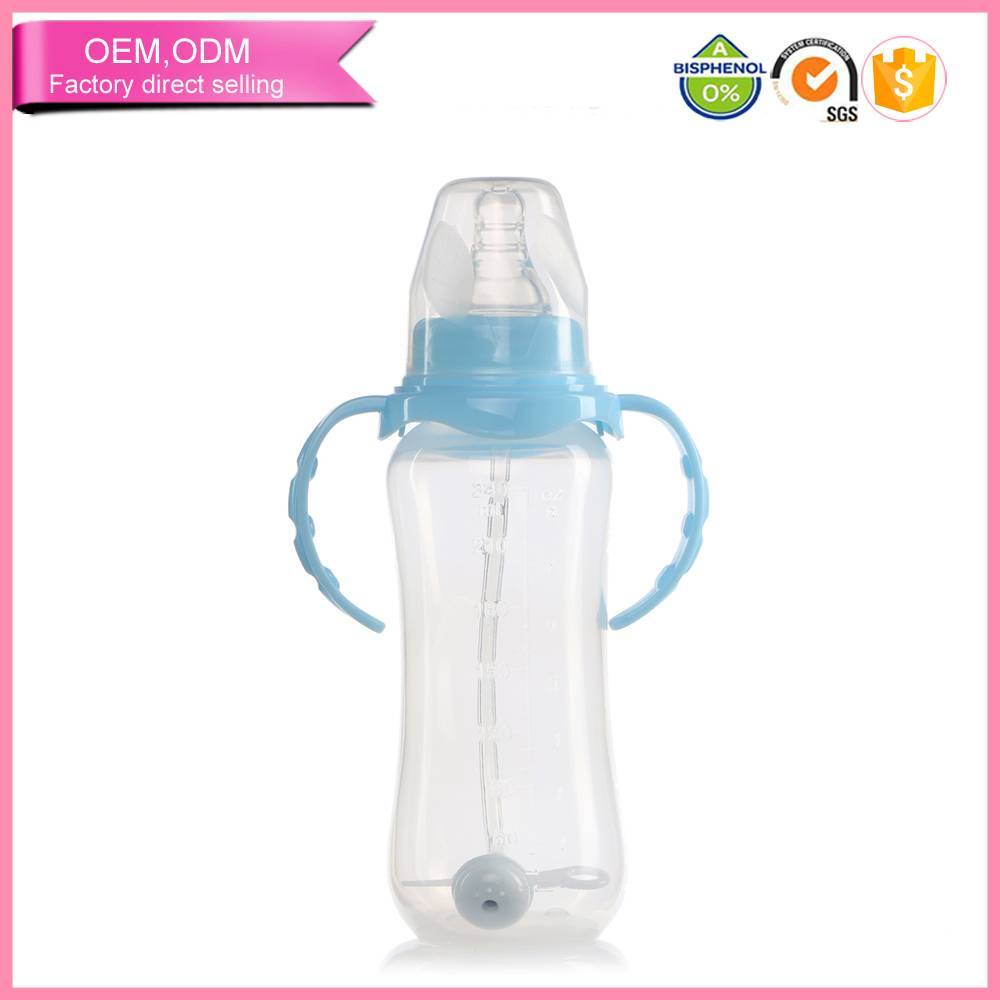 Selling well pp baby feeding set handle silicone nipple baby bottles in bulk
