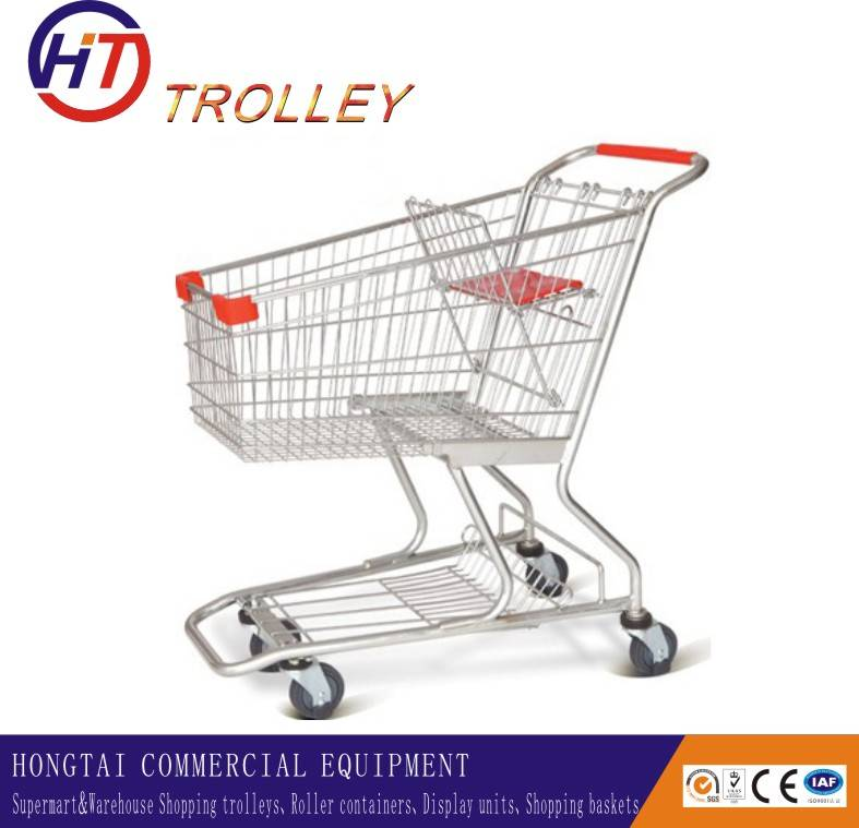 Asian style quality supermarket shopping carts on wheels for  seniors