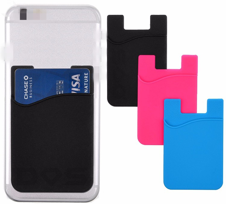 Promotional gift 3m sticker phone case card holder wallet with logo printing_HL3730