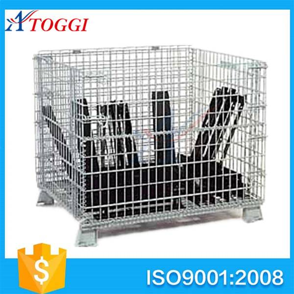 Q235 foldable steel storage wire container