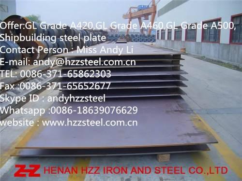 GL A420,GL A460,GL A500,GL A550,GL A620,GL A690,Shipbuilding steel plate,