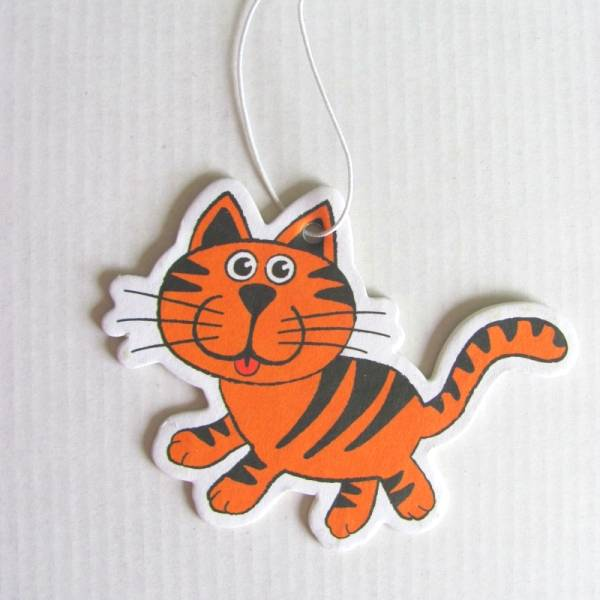Cat design Paper Air Freshener for promotion,customized Paper Car freshener