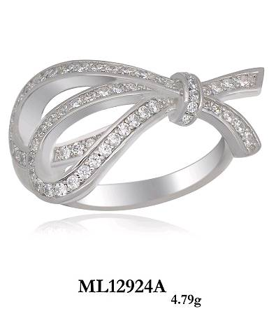 fancy silver ring,micro pave with cubic zircon