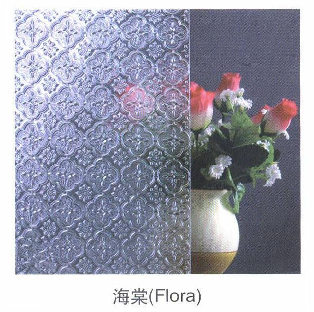 3mm 4mm 5mm 6mmGreen/Blue/Grey /Amber Flora Patterned Glass