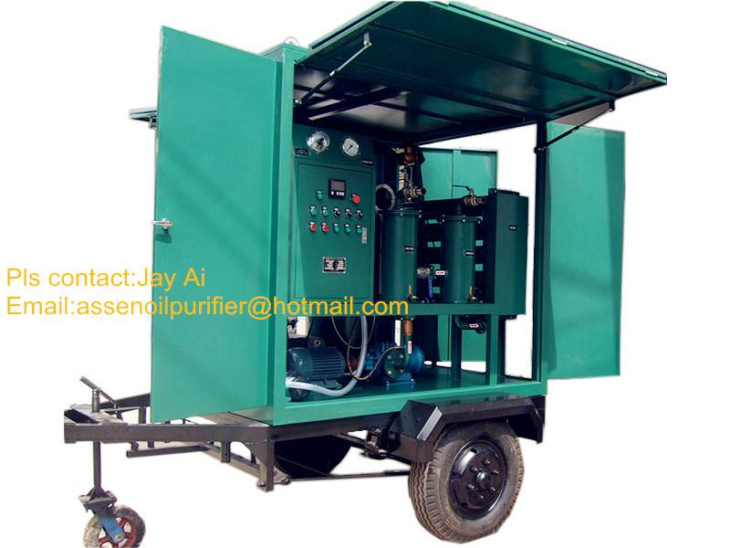 ISO Certificate Mobile type Transformer Oil Filtration machine