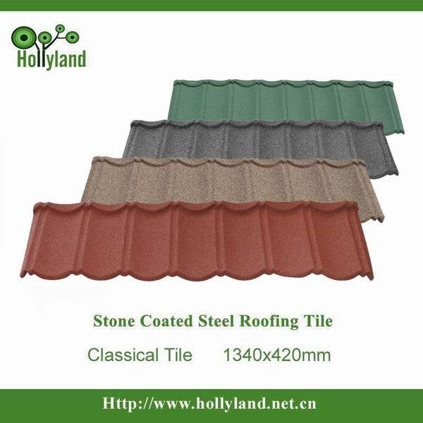 Safe installation stone coated metal roof tile