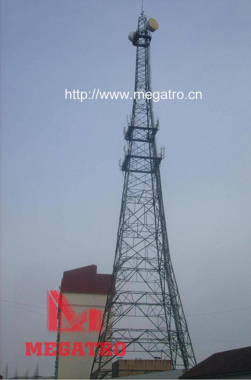Taper lattice square telecom tower