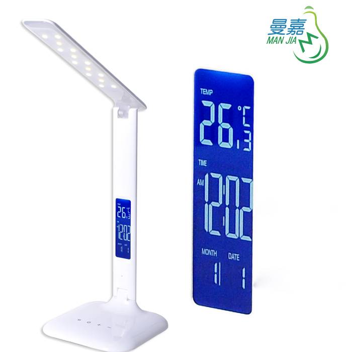 Manjia Touch Control Dimmable LED Table Lamp Reading Light With LCD Screen