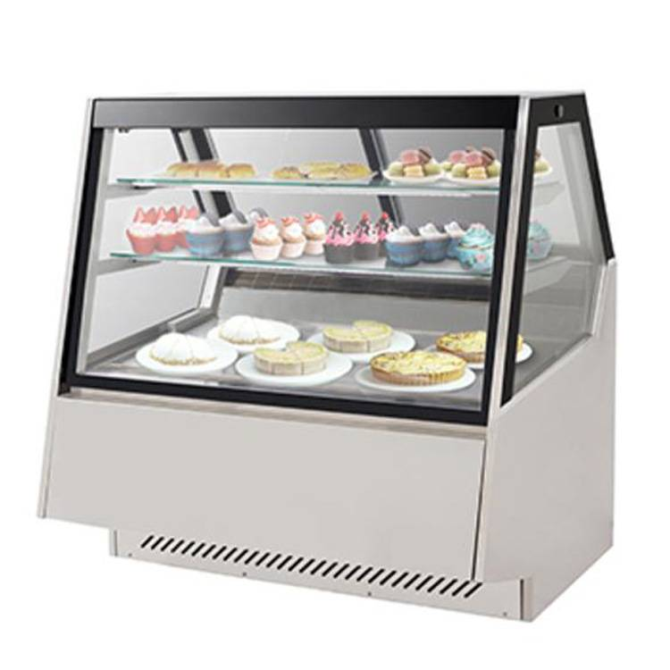 Square shape stainless steel cake display cabinet