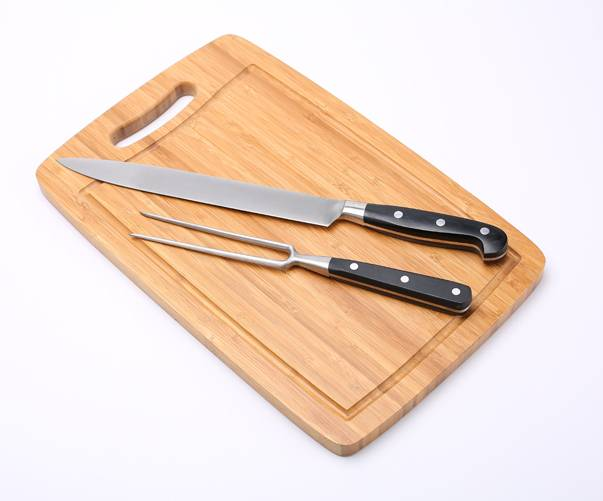 Rinvay Carving set with bamboo cutting board