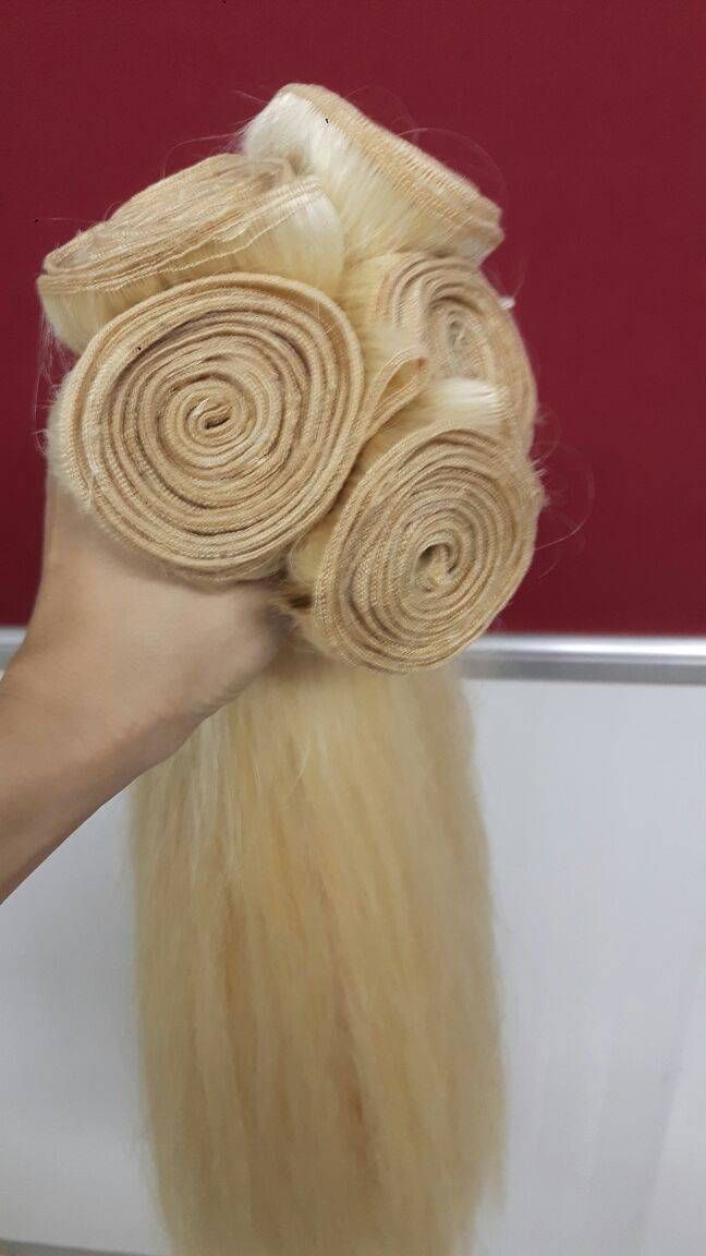 color machine weft hair