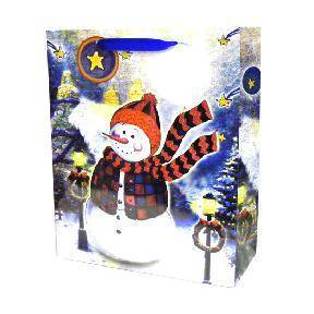 Christmas Snowman Paper Gifts Bags Supplier