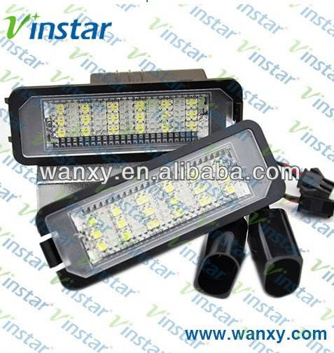 canbus led license plate lamp for golf 5 golf 6 license lamp