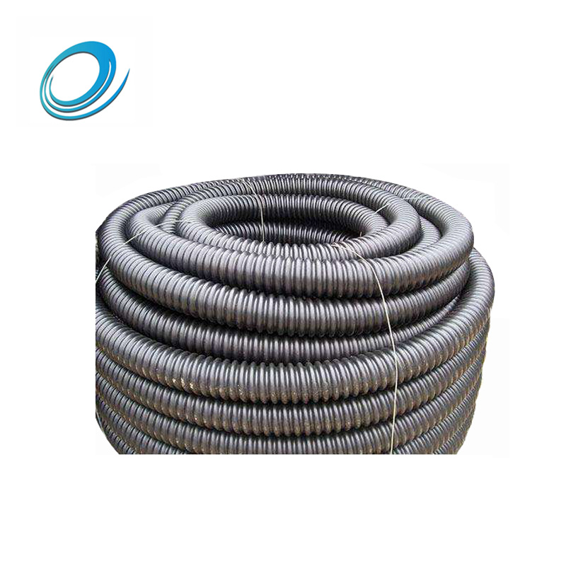 50mm hdpe spiral corrugated pipe pe carbon corrugated pipe for underground wire protection