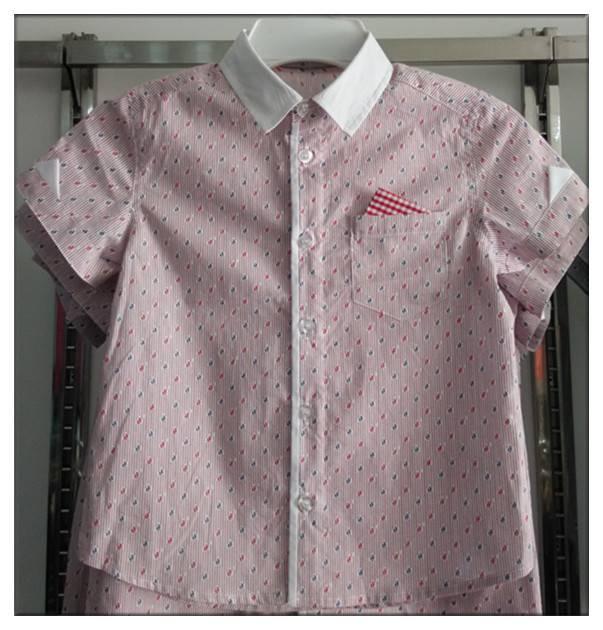 2016 new style 100%cotton fashion boys fancy shirts