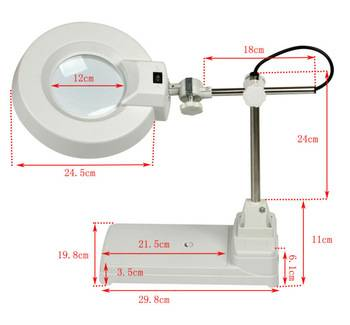high quality inspection LED magnifying lamp
