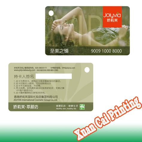 pvc club member card