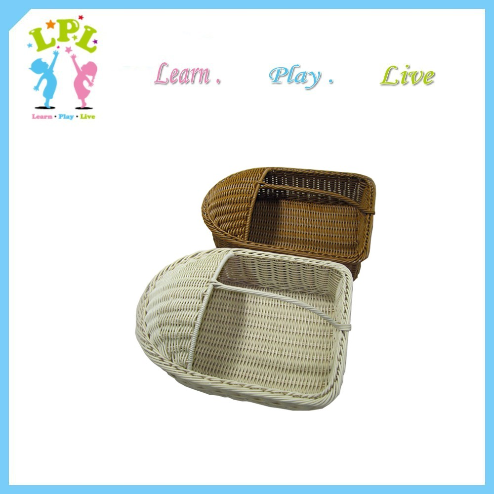 Brown color modern design basket with lid basket for shoes