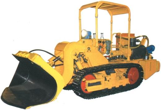0.45CBM multipurpose side dumping crawler loader