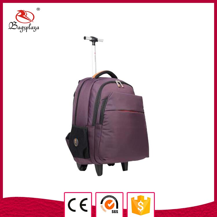 New fashion laptop bag unisex backpack hot sale trolley school bag