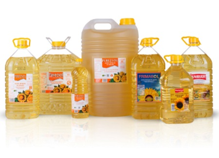 Sunflower oil with defoamer, frying. 25 liter bottle