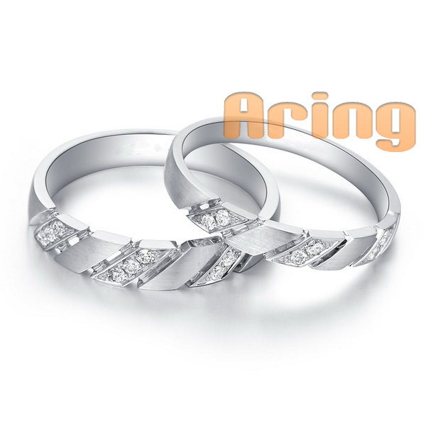 Wholesale 18k Gold Jewelry White Gold Diamonds Weddings Rings 14k Solid Gold Jewelry