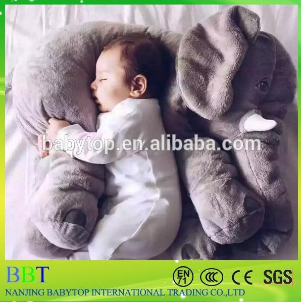 Animal baby pillow plush and stuffed elephant toys with big ears