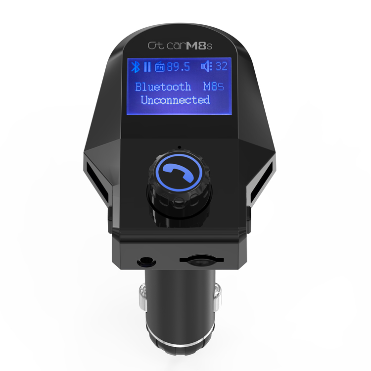 GXYKIT Factory Price ABS Black V3.0 5V 2.5A 2 USB Bluetooth FM Transmitter M8S Car Music Player