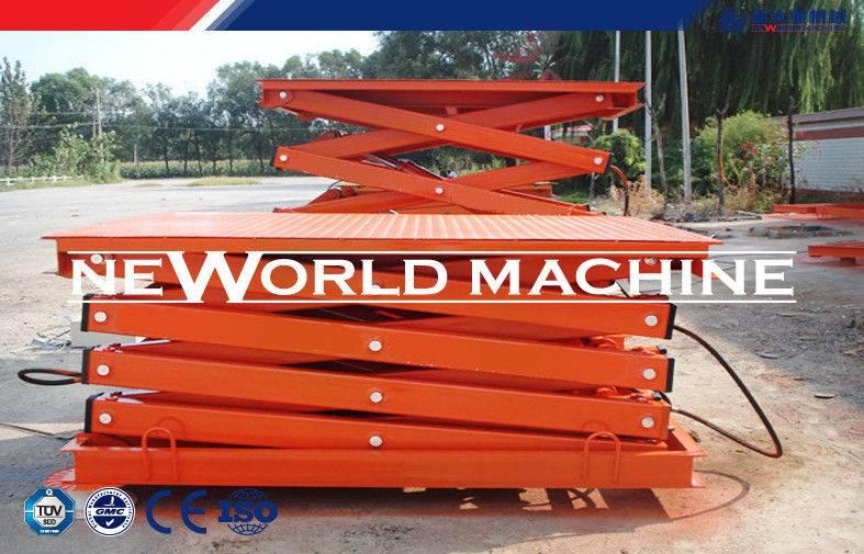 SJG series Steel Hydraulic Lift Platform stationary 2.2kw 2200 * 1220mm Table Size