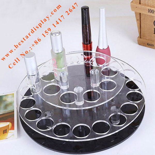 Rotating Plexiglass PMMA acrylic nail polish rack display