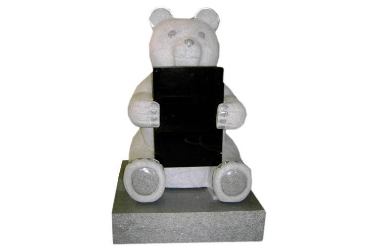 Children headstone teddy bear tombstone granite monument