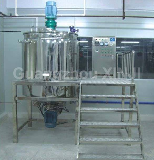 Chemical double jacketed mixing tank