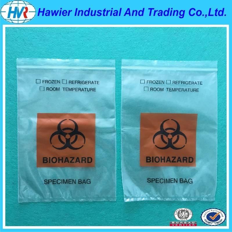 SGS specimen use writable wateproof zip lock bag