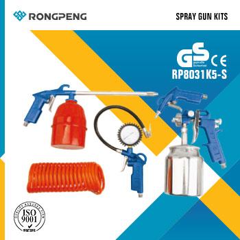 Rongpeng 5pcs Spray Gun Kits R8031k5 S