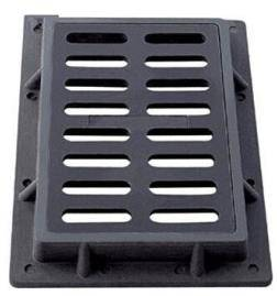 Factory Price EN124 Iron Cast Road Grate with Balck Painting