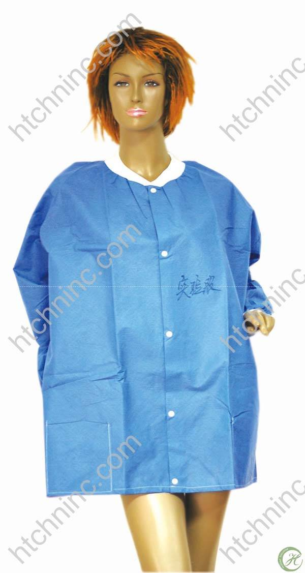 disposable lab coat,visitor coat