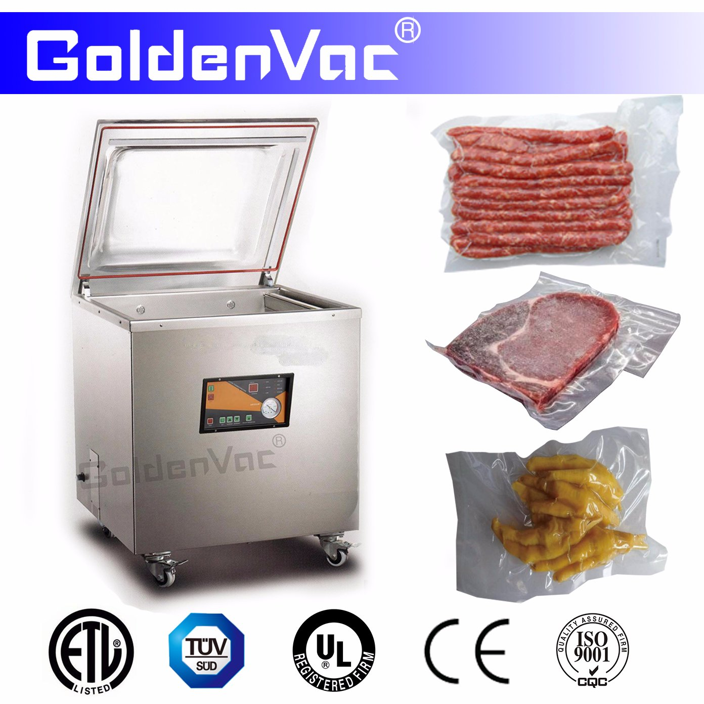 Professional industrial single chamber automatic vacuum sealer(GK100)