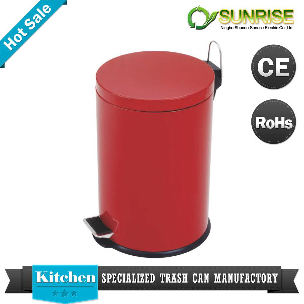 Color Stainless Steel Pedal Dustbin