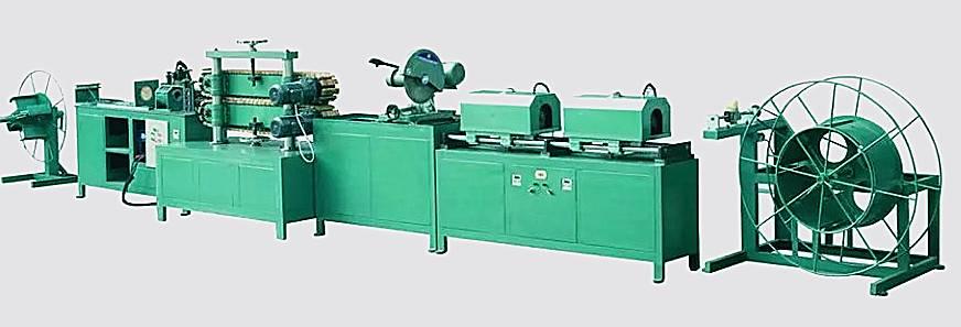 Mechanical flexible metal gas hose producing line