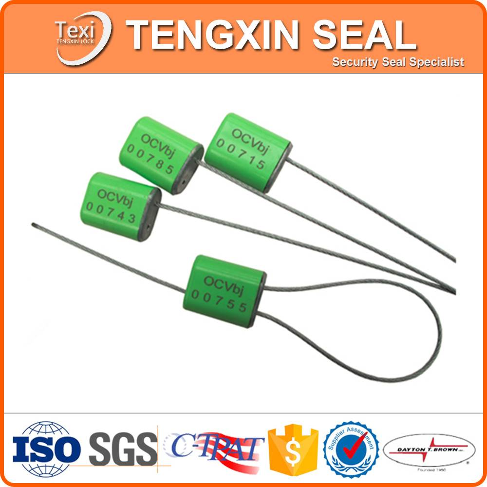 container door disposable lock one time use cable seal