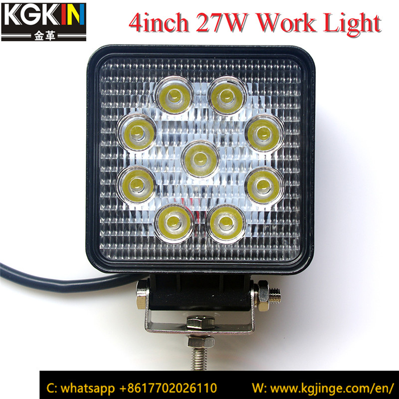 27W 4inch Led Work light Square Led Headlight