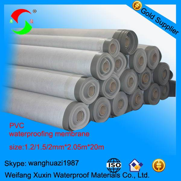 1.5mm polyester reinforced pvc waterproof membrane