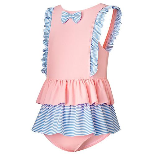 Girls' one piece swim skirt baby grade fabric swimwear custom swimwear manufacturers