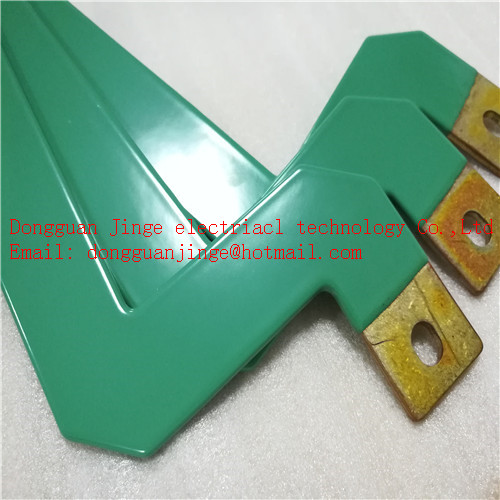 Green color epoxy resin copper bar