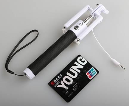 Self-timer Mobile phone Extendable Ski Pole Handle Telescopic Monopod KS-Z07-14s