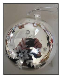 Silver Glass BallChristmasOrnament